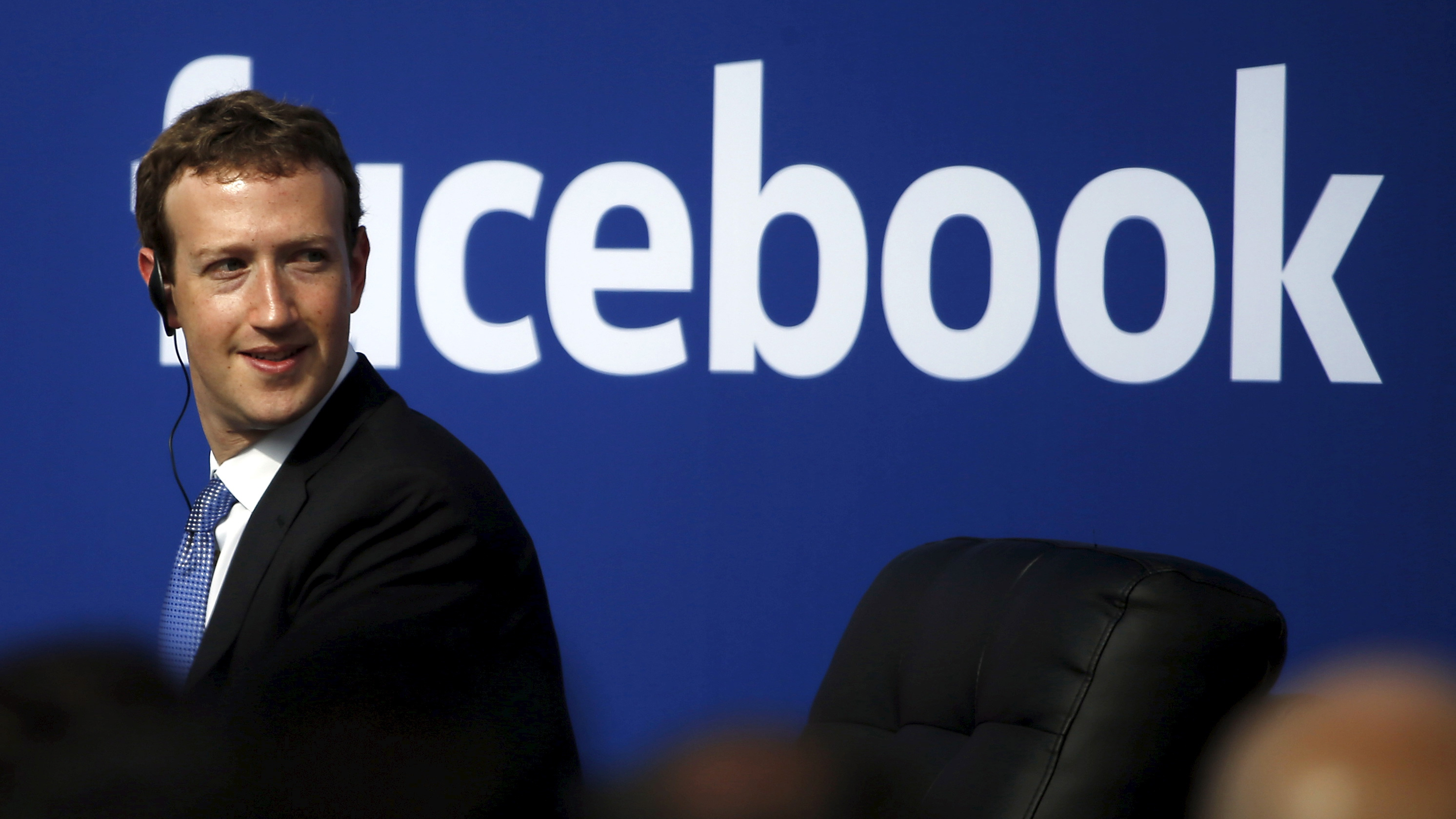 File photo of Facebook CEO Mark Zuckerberg during a town hall at Facebook's headquarters in Menlo Park,...
