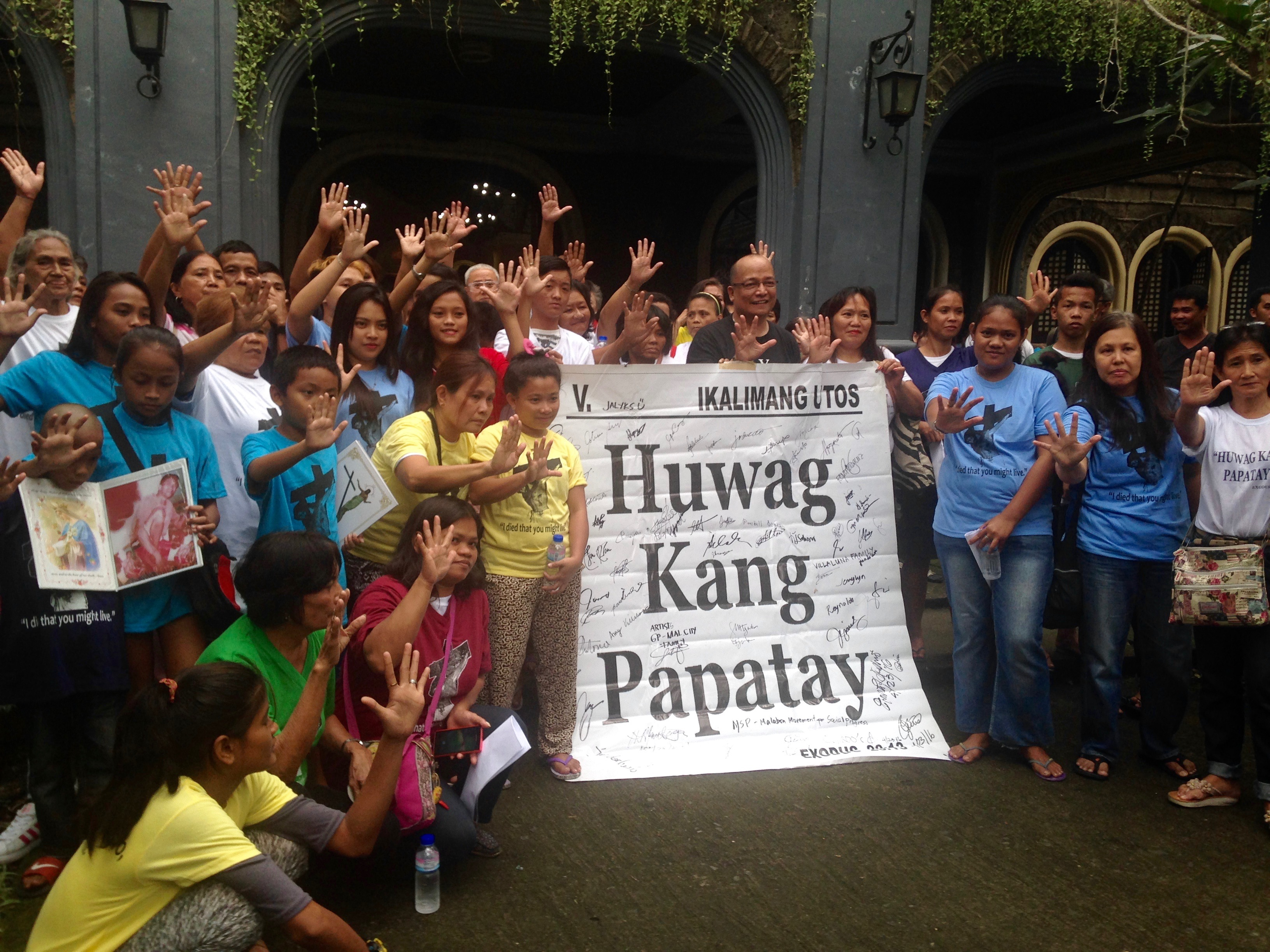 Father Atilano Fajardo of the Archdiocese of Manila launched Huwag Kang Papatay, meaning 'thou shalt not kill,' last July, seven months before the Catholic Church released its official statement condemning the drug war.