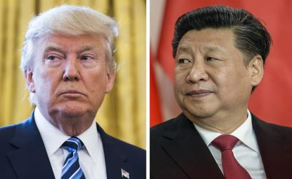 A combo picture made available on 10 February 2017 shows (L) US President Donald J. Trump during Attorney General Jeff Sessions' swear-in ceremony at the White House in Washington, DC, USA, 09 February 2017, and (R) Chinese President Xi Jinping after signing a bilateral treaty with Czech President Milos Zeman (not pictured) at Prague Castle in Prague, Czech Republic, 29 March 2016. According to media reports on 10 February 2017, US President Donald J. Trump, after a call with Chinese President Xi Jinping, said that his administration will accept the 'One China' policy.