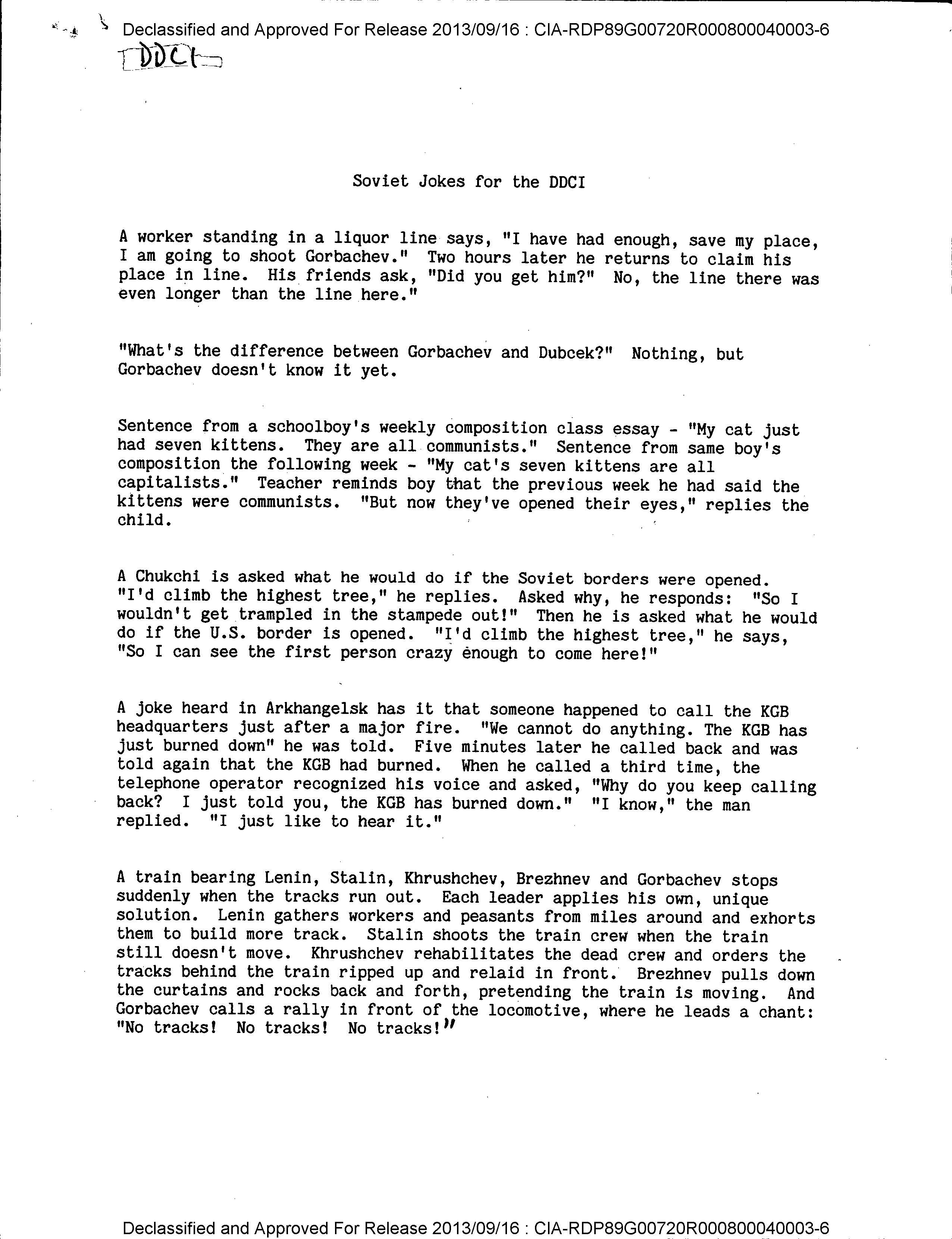 Declassified CIA Soviet jokes offer a glimpse of Cold War humor — Quartz