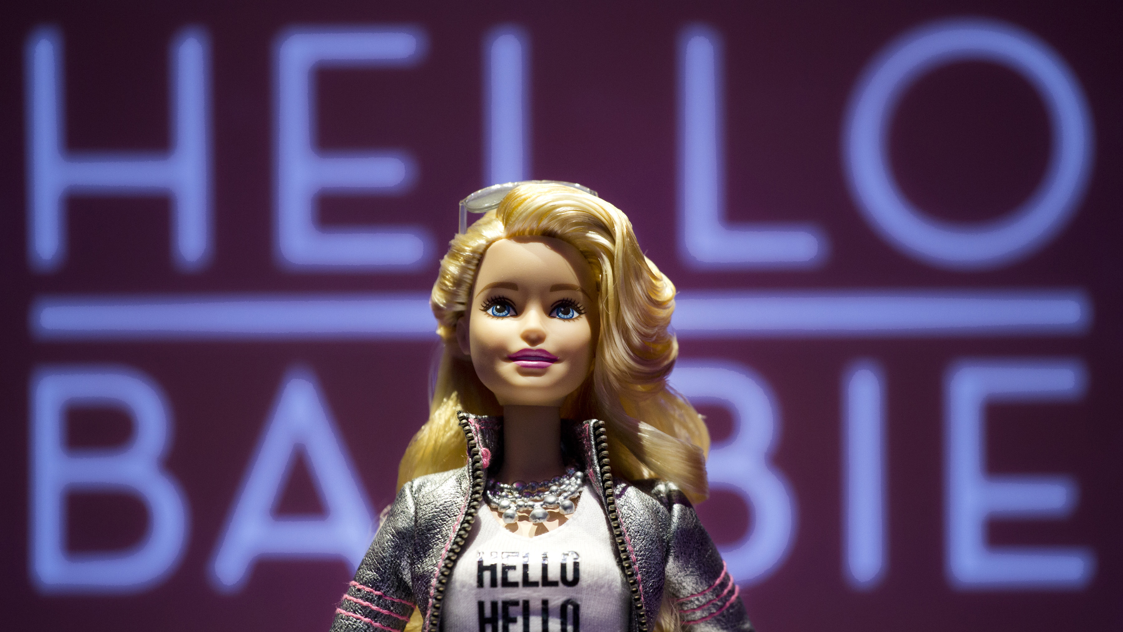 FILE - In this Feb. 14, 2015 file photo, Hello Barbie is displayed at the Mattel showroom during the North American International Toy Fair in New York. The toy records and stores conversations between kids and their dolls to improve speech-recognition technology and help its makers create more relevant automated responses for kids. Parents concerned about privacy can review and delete those conversations by visiting a website. (AP Photo/Mark Lennihan, File)