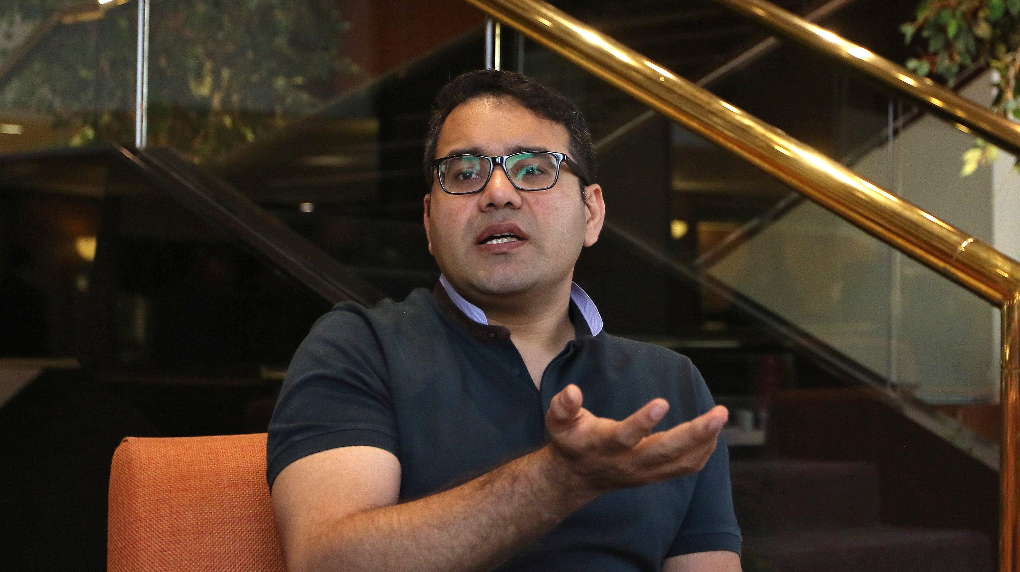 Kunal Bahl, CEO of India's e-commerce firm Snapdeal, speaks during an interview with Reuters in Mumbai, India, February 6, 2017.