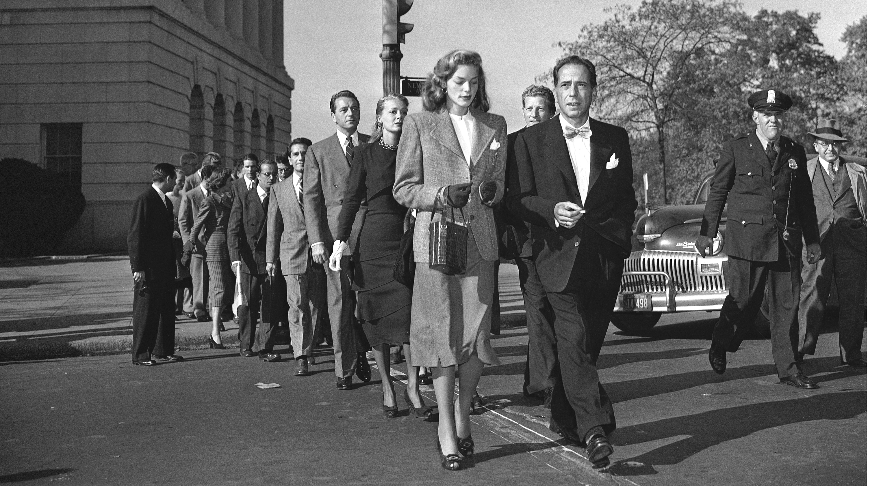 Image result for bogart and bacall v the HUAC