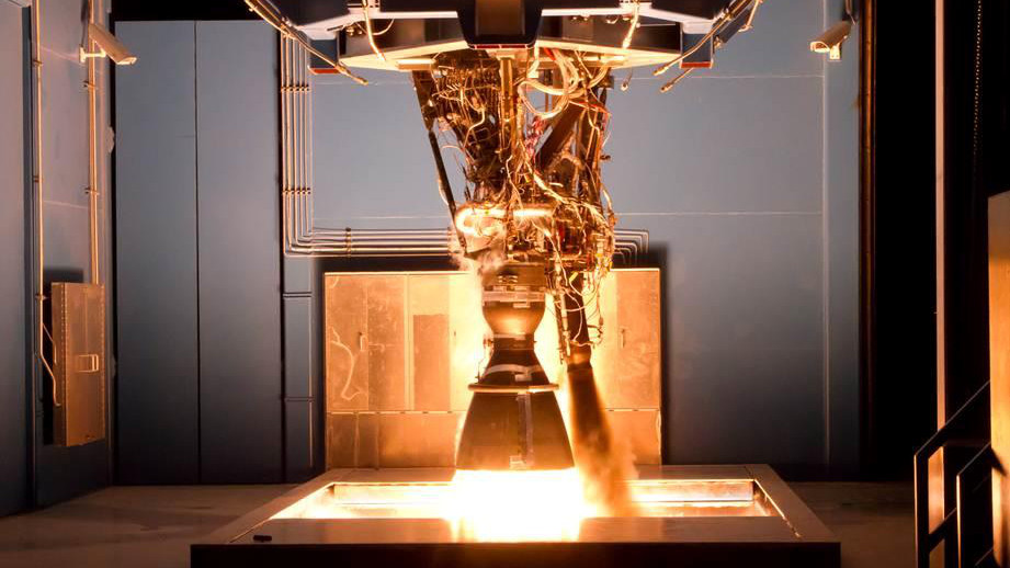 A Merlin engine undergoes testing.