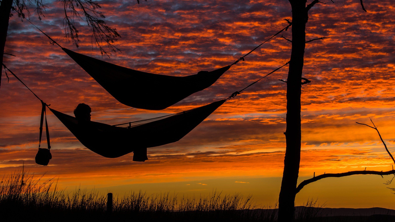 hammocks sunset