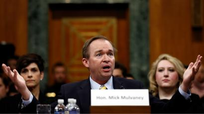 Budget Director-designate Rep. Mick Mulvaney, R-S.C., testifies on Capitol Hill in Washington, Tuesday, Jan. 24, at his confirmation hearing before the Senate Budget Committee.