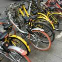 Ofo and Mobike vehicles on the streets of Shanghai