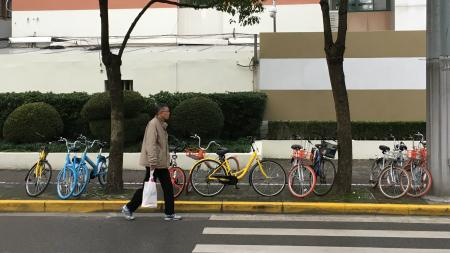 Chinese bike-sharing startups like Ofo and Mobike are being taken