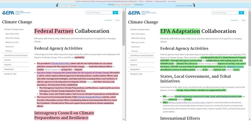 new EPA page