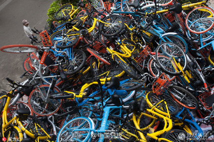 Chinese bike-sharing startups like Ofo and Mobike are being