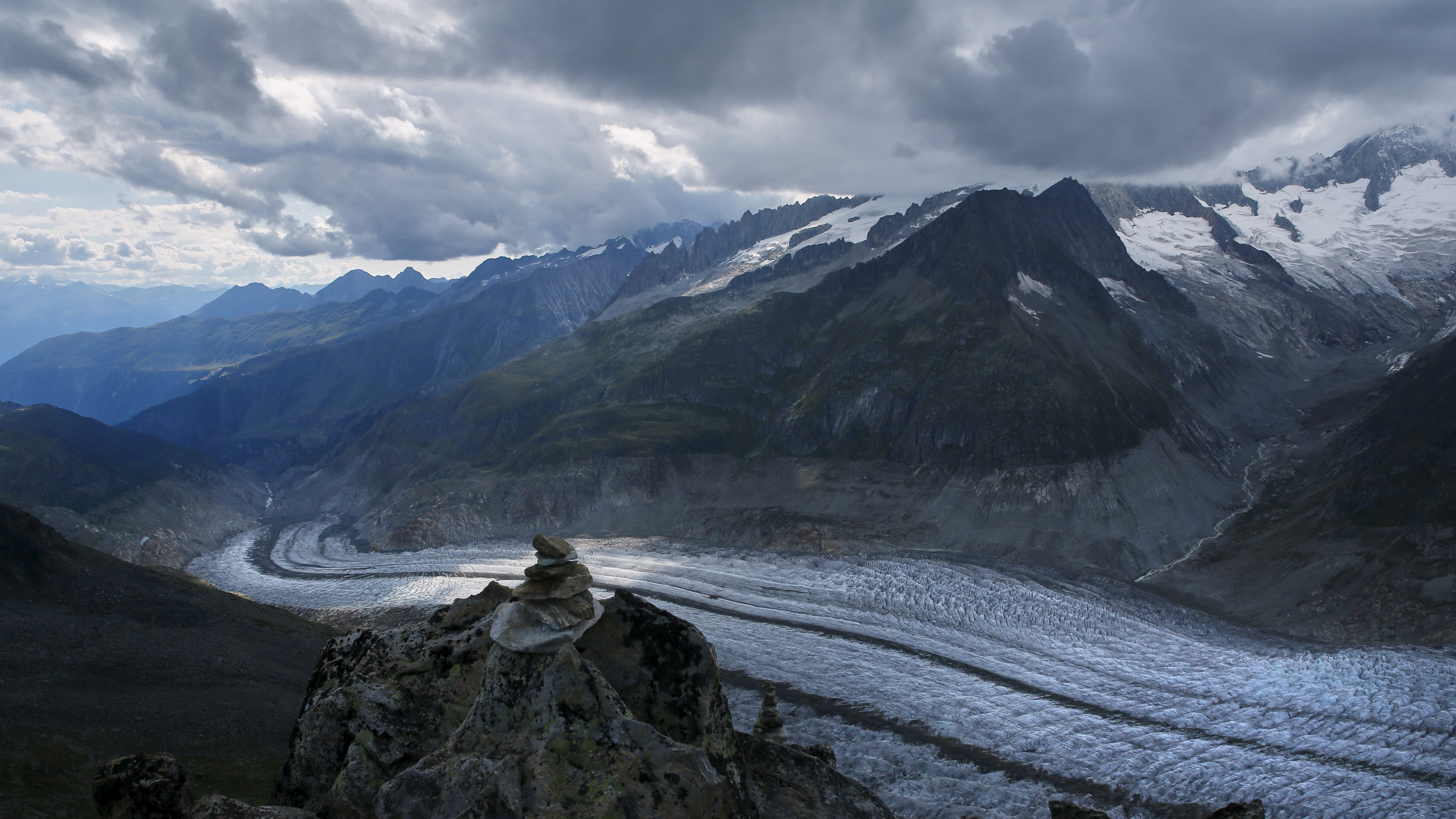 One of Europe's biggest glaciers, the Great Aletsch coils 23 km (14 miles) through the Swiss Alps - and yet this mighty river of ice could almost vanish in the lifetimes of people born today because of climate change