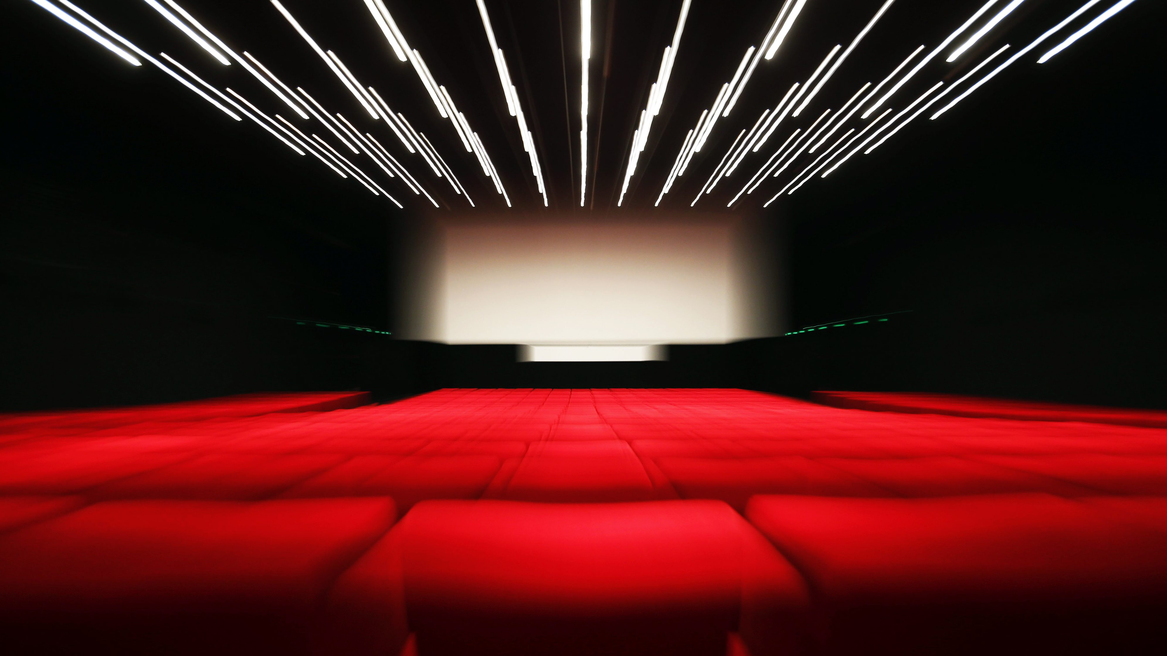 A cinema screen and red seats are seen in a cinema hall in the Palace Festival on the eve of the opening ceremony of the 69th Cannes Film Festival in Cannes