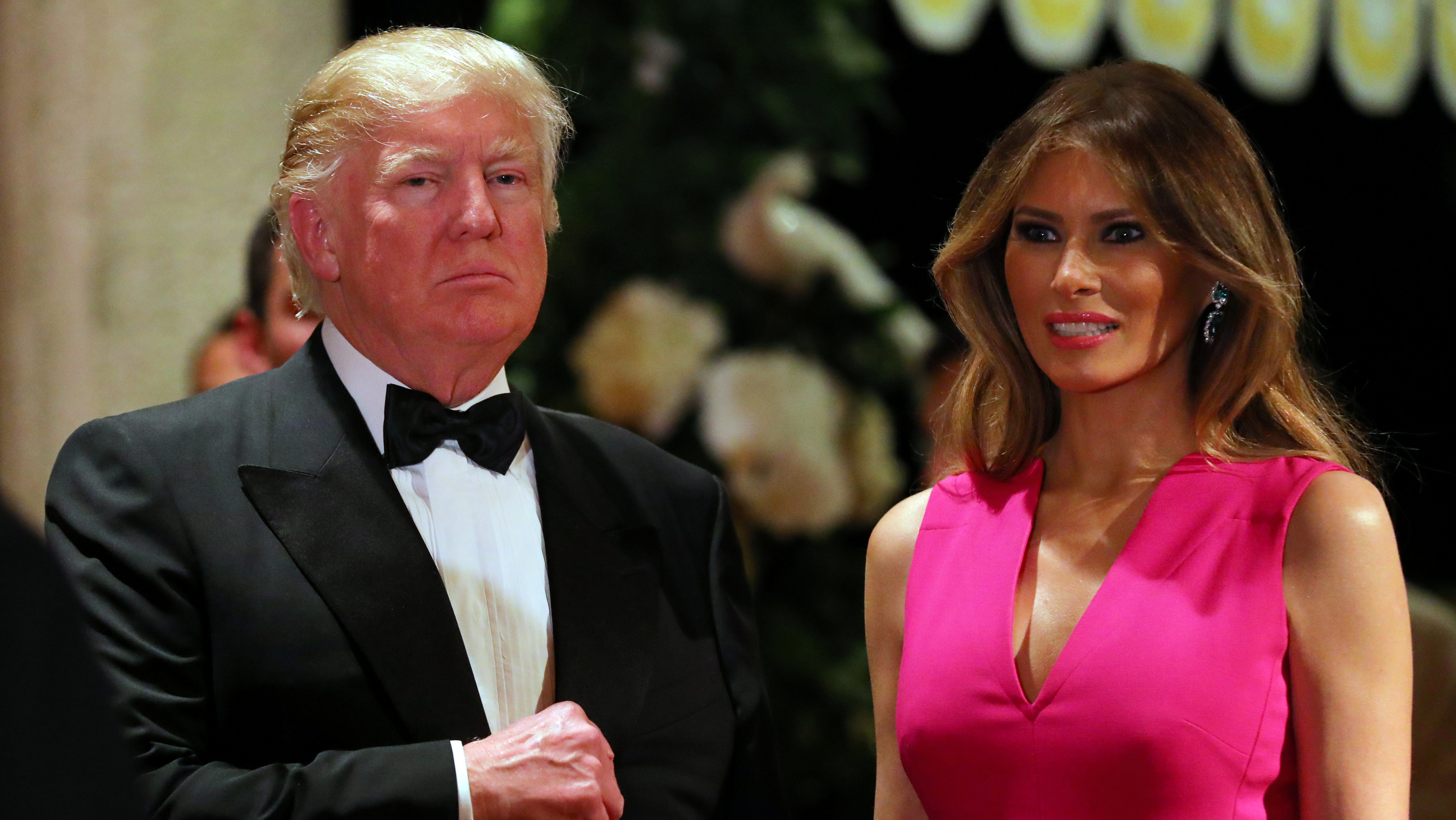 U.S. President Donald Trump and First Lady Melania Trump attend the 60th Annual Red Cross Gala at Mar-a-Lago club in Palm Beach, Florida, U.S., February 4, 2017.