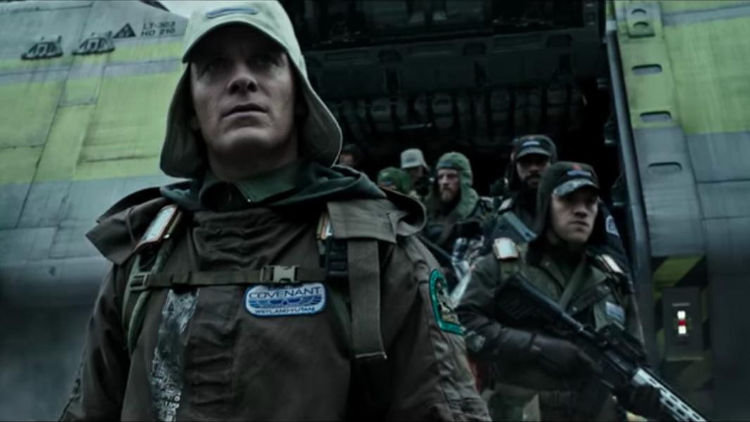 Screen capture from Alien: Covenant trailer