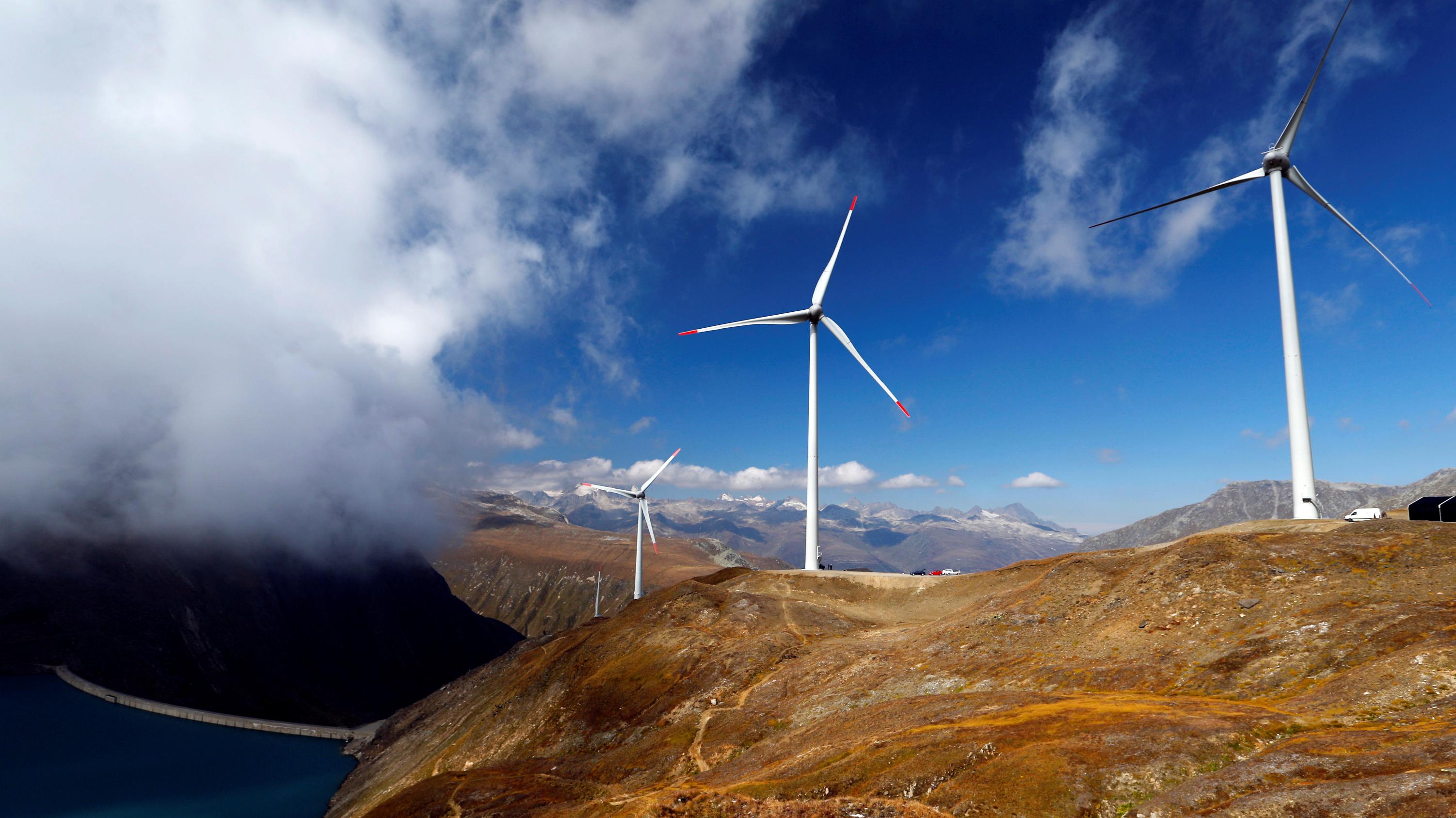 Wind turbines at Swisswinds farm