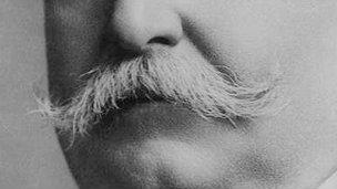 A closeup of William Howard Taft's mustache
