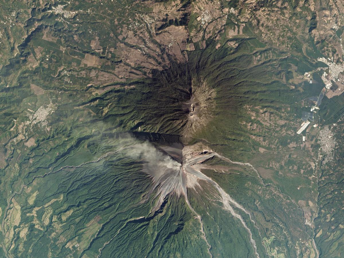 A photo of Guatemala's Volcan de Fuego taken on Jan. 25 2017.