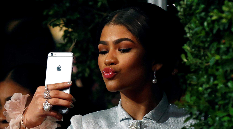 Zendaya takes a selfie