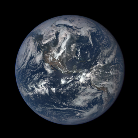 The first light image of North and Central America made on July 6, 2015