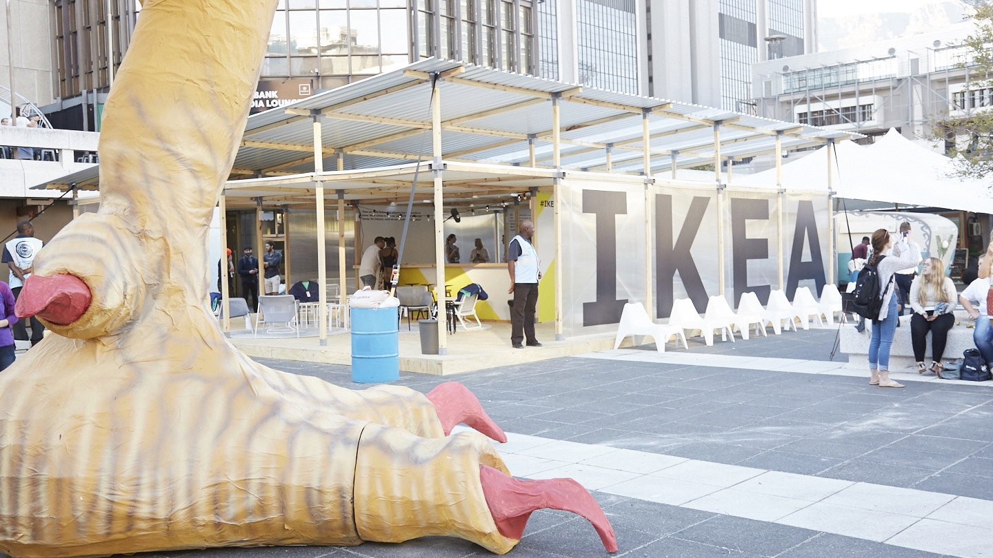 The IKEA house, built as a space for designers to collaborate at the Design Indaba 2017 in South Africa.