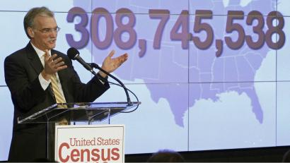 Census Bureau Director Robert Groves announces results for the 2010 U.S. Census