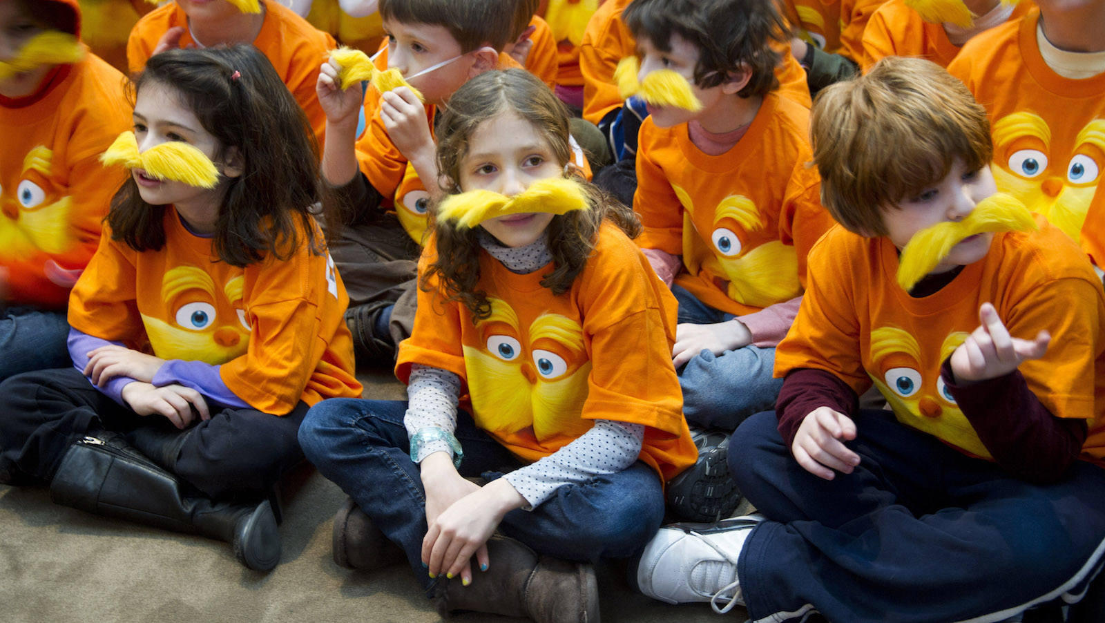 School children attend the National Education Association's 15th annual Read Across America Day at The New York Public Libary, in New York, Friday, March 2, 2012. (AP Photo/Charles Sykes)