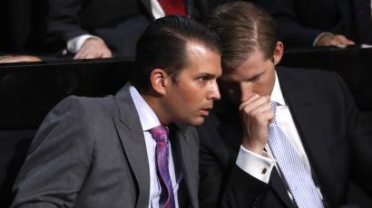 Trump's sons, Eric and Donald Jr, have taken charge of the family business.