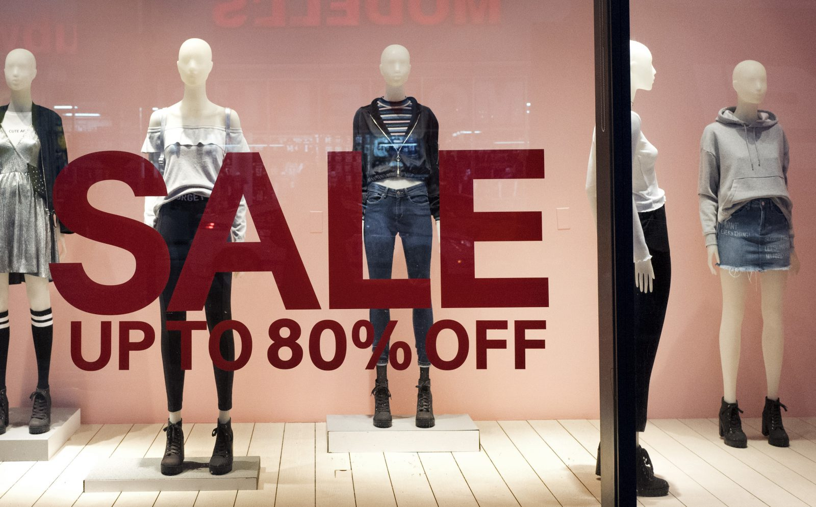 Almost half of American women shoppers won't even walk into a store unless there's a sale