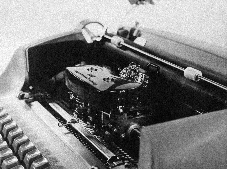 An IBM electric typewriter