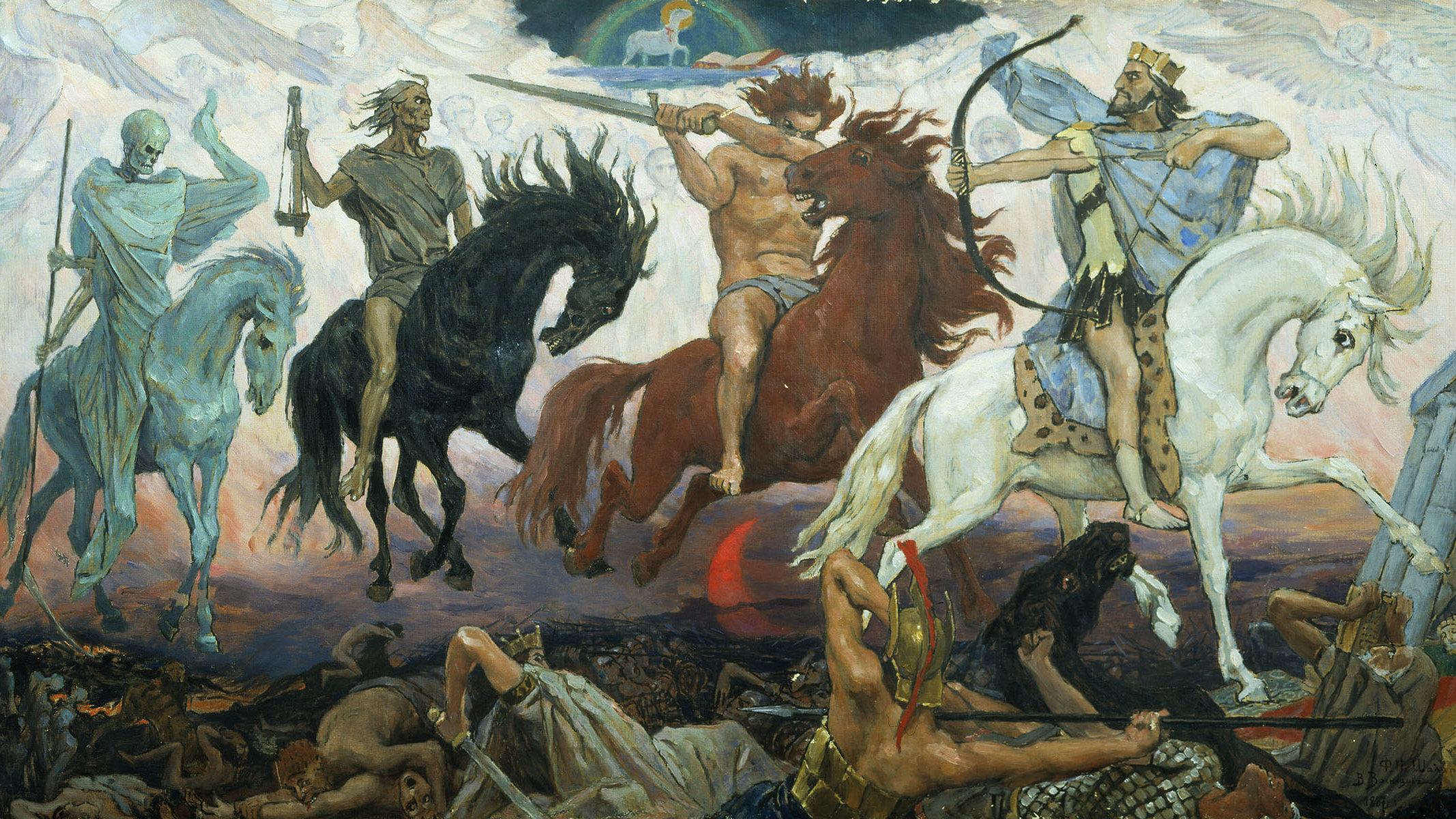 Four Horsemen of Apocalypse, by Viktor Vasnetsov, painted in 1887.