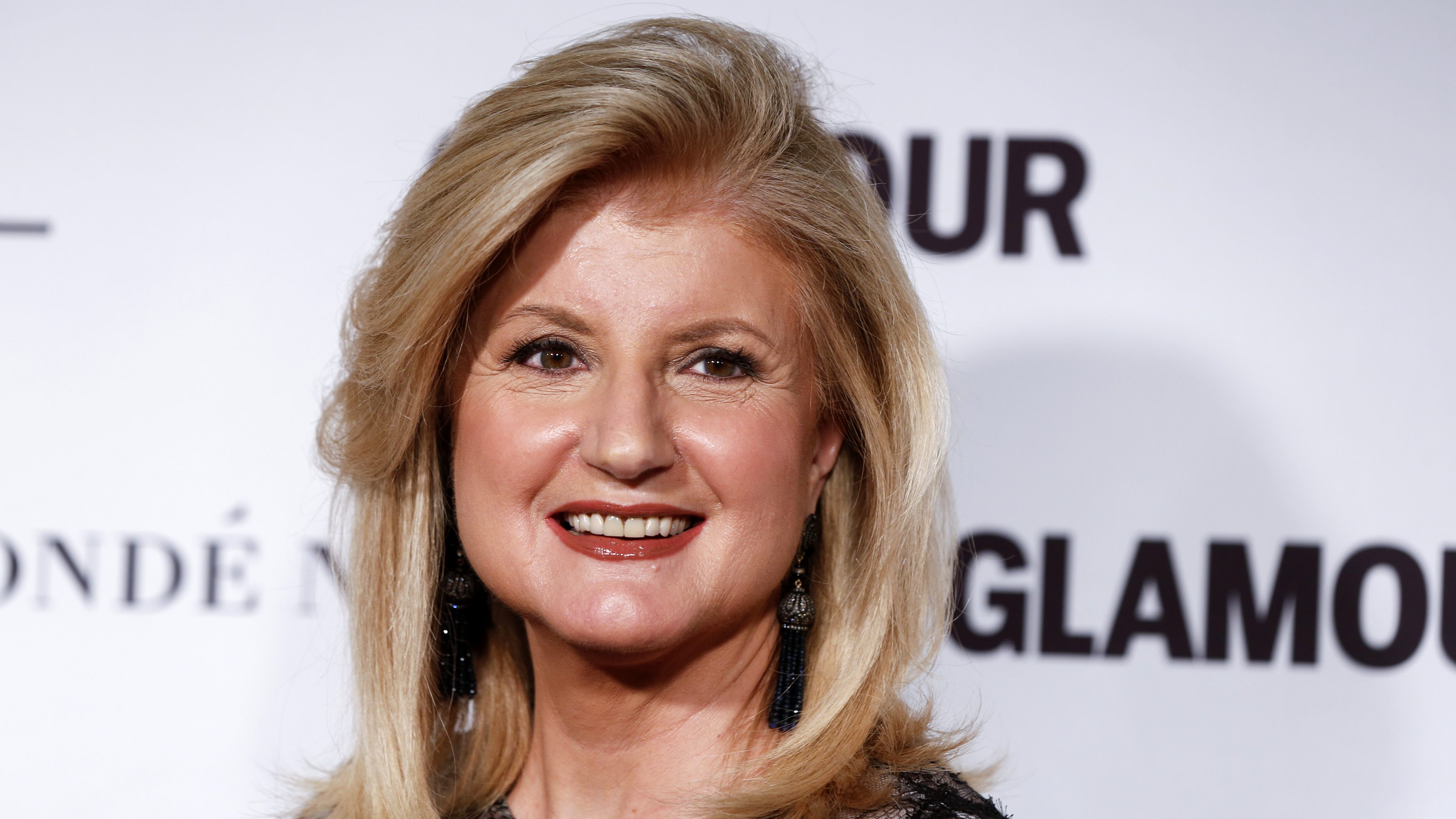 Arianna Huffington arrives for Glamour Magazine's annual Women of the Year award ceremony in New York November 10, 2014.  REUTERS/Lucas Jackson (UNITED STATES - Tags: ENTERTAINMENT HEADSHOT MEDIA BUSINESS) - RTR4DNNA