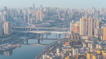 A overhead picture of Chongqing, China