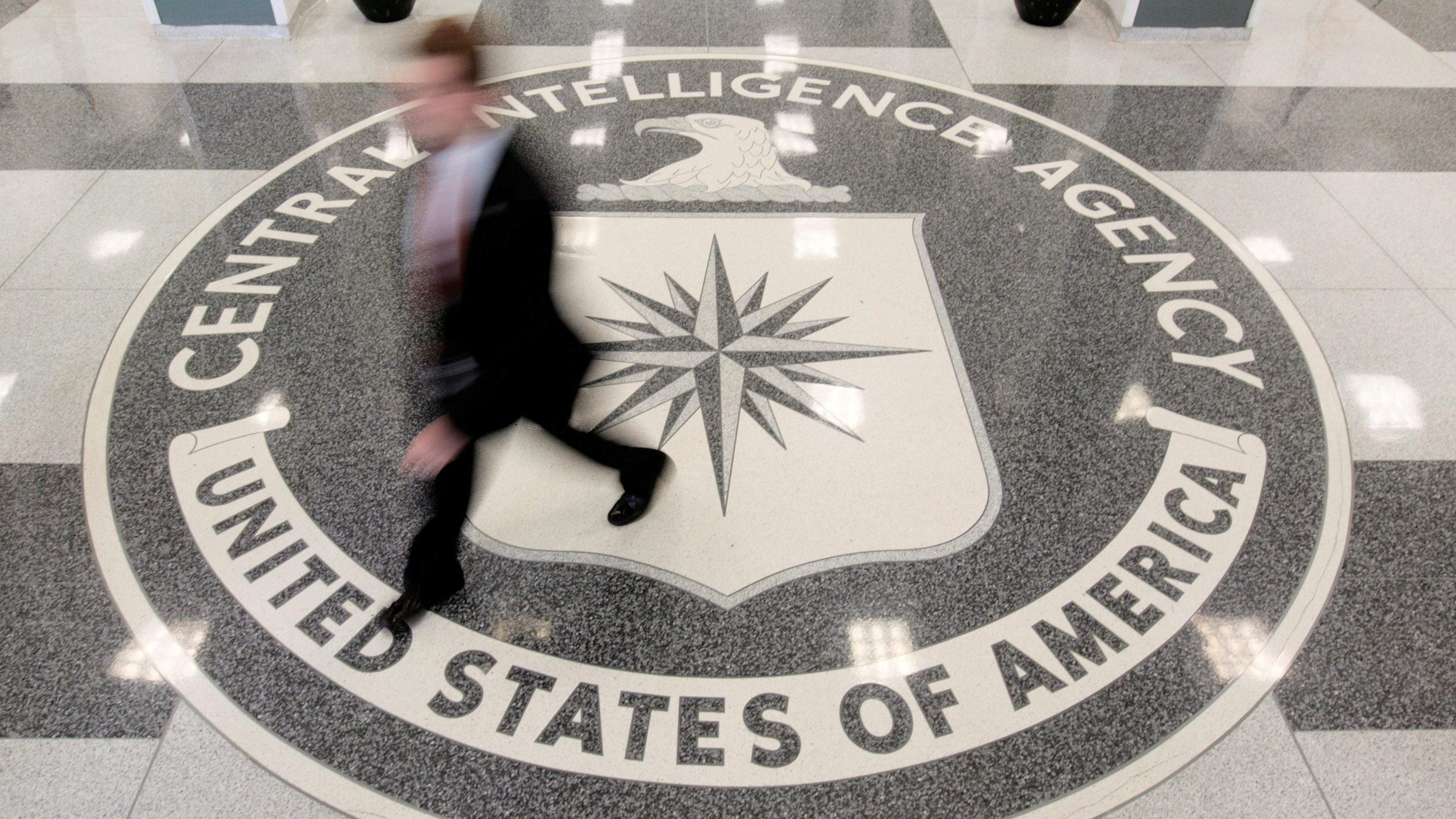 FILE PHOTO - The lobby of the CIA Headquarters Building is pictured in Langley, Virginia, U.S. on August 14, 2008.     REUTERS/Larry Downing/File Photo - RTS11UG8