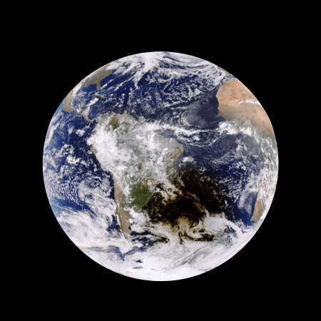 On February 26th, 2017, DSCOVR EPIC captured an annular solar eclipse over South America.