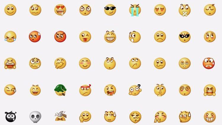 Emoji, WeChat-style.    (Screenshot in WeChat)