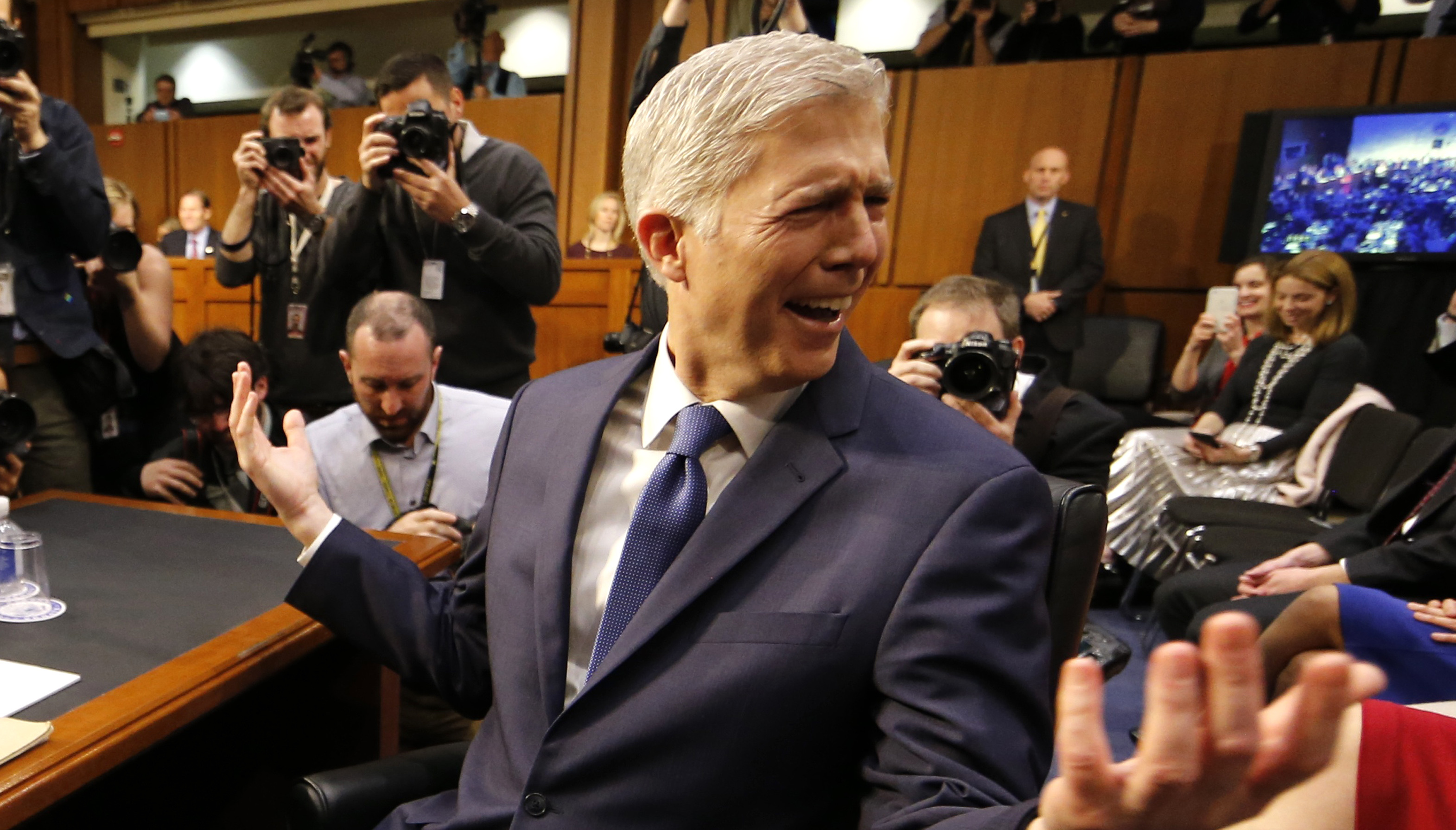 Neil Gorsuch at Supreme Court hearing