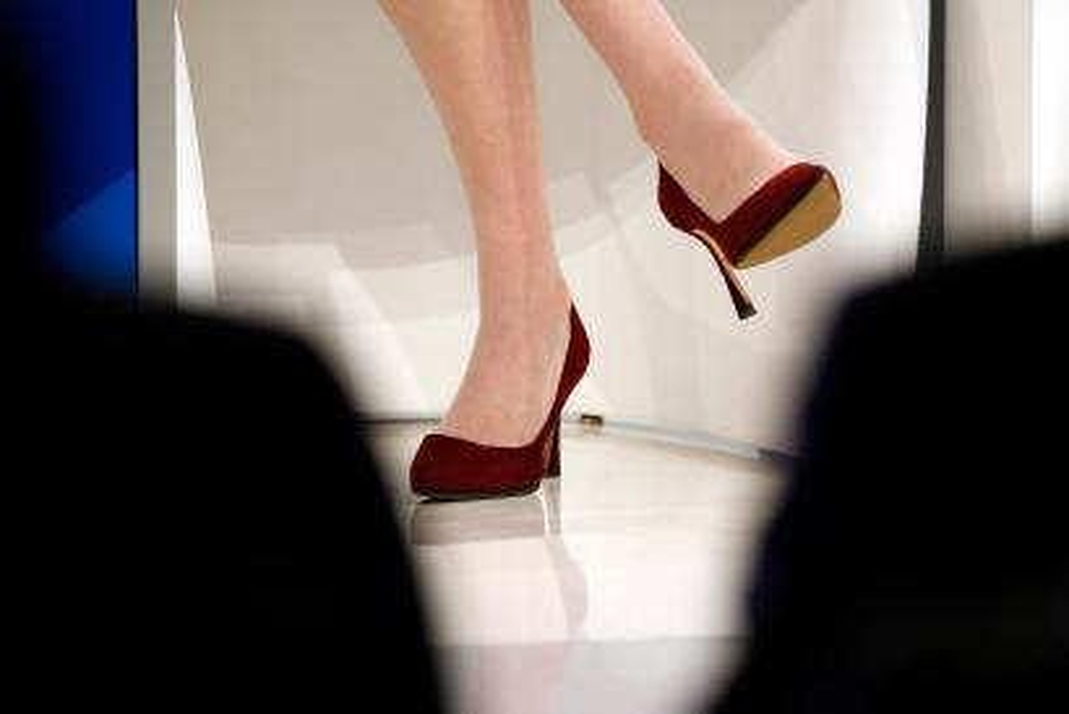 high heels in corporate setting
