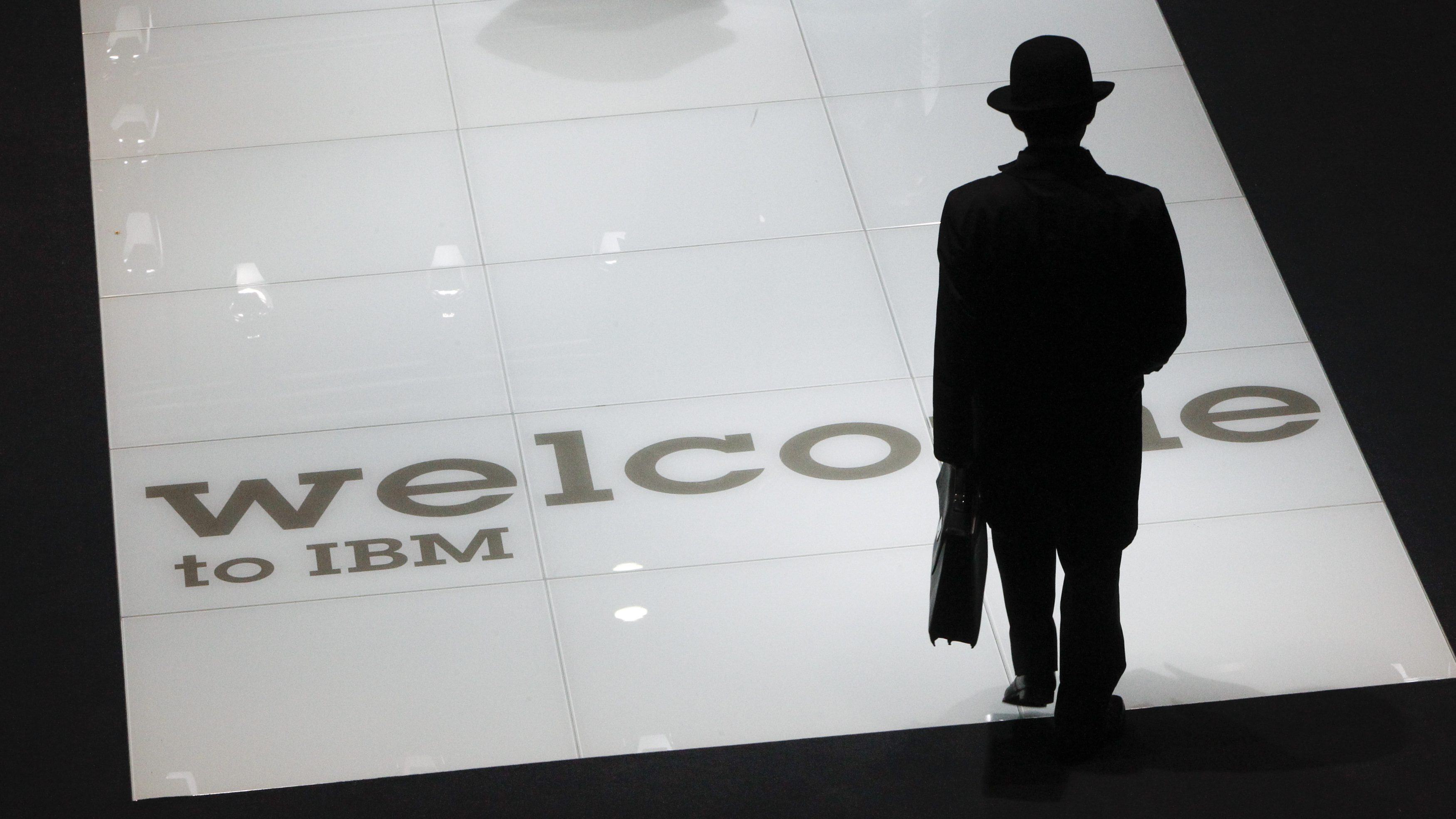 A man visits the stand of U.S. firm IBM at the CeBIT computer fair in Hanover March 2, 2010. The world's largest IT fair CeBIT opens its doors on March 2 and runs through March 6. Spain is the partner country of the 2010 CeBIT.
