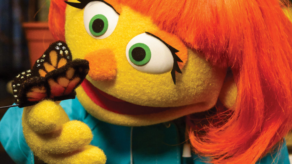Julia, Sesame Street's new muppet who has autism.