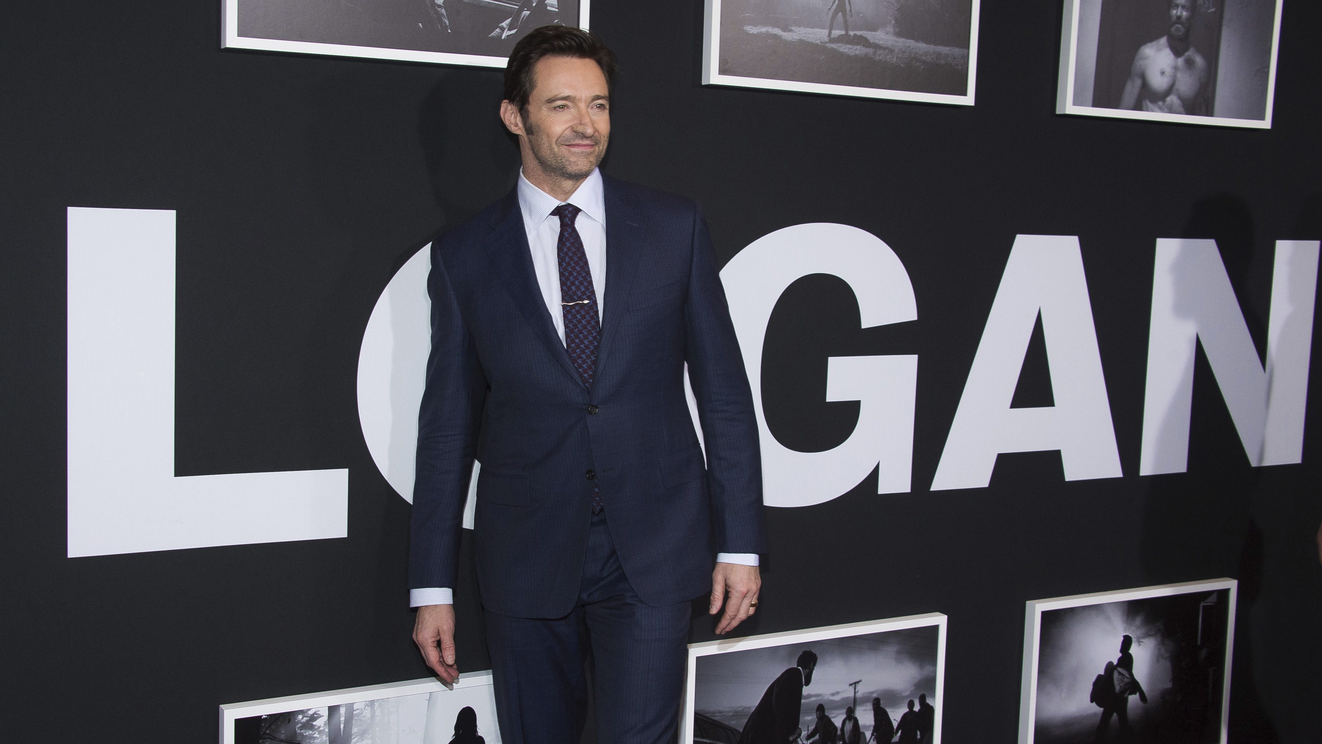 """Hugh Jackman attends a screening of """"Logan"""" at Jazz at Lincoln Center's Frederick P. Rose Hall, on Friday, Feb. 24, 2017, in New York. (Photo by Charles Sykes/Invision/AP)"""
