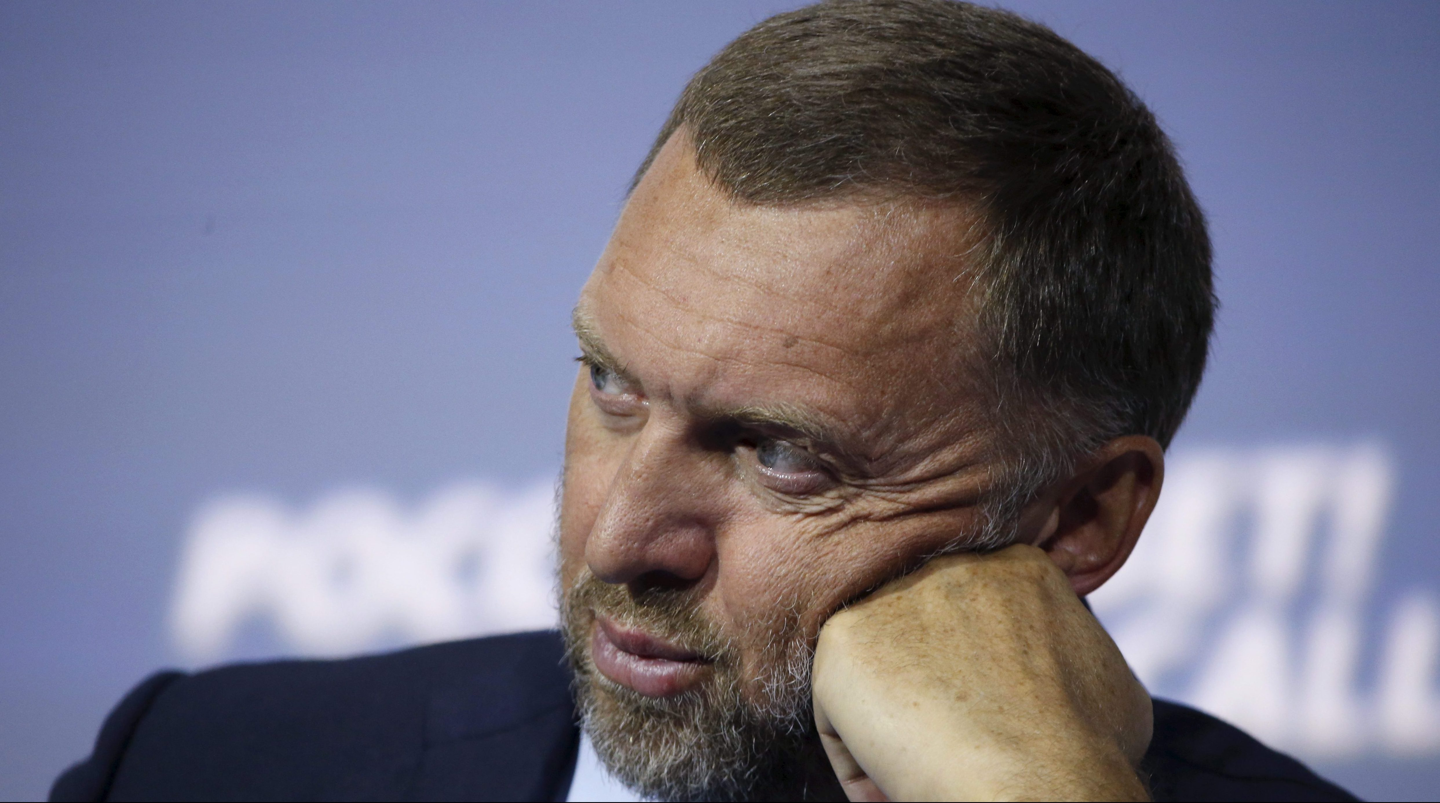 """Russian tycoon Oleg Deripaska attends the 7th annual VTB Capital """"Russia Calling!"""" Investment Forum in Moscow, Russia, October 13, 2015."""