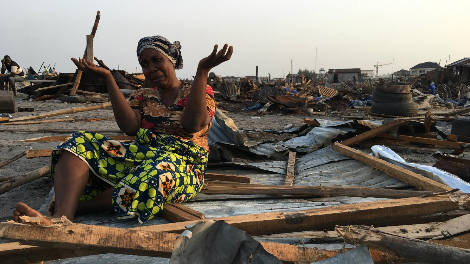 Lagos wants to be a modern mega city so its forcing thousands of slum dwellers from their homes