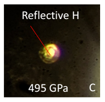 An image of metallic hydrogen from the paper: Observation of the Wigner-Huntington transition to metallic hydrogen