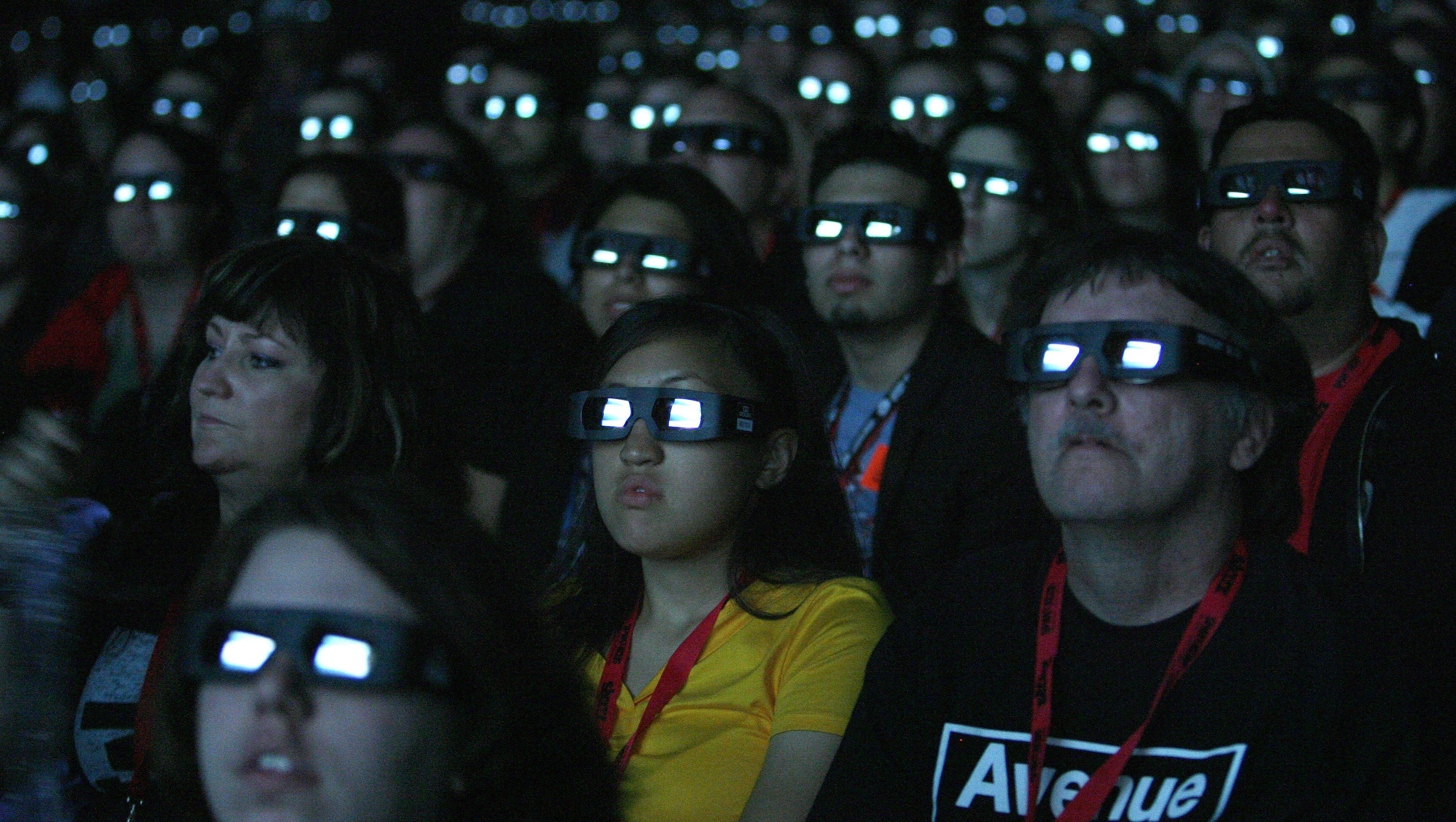 3D glasses movie