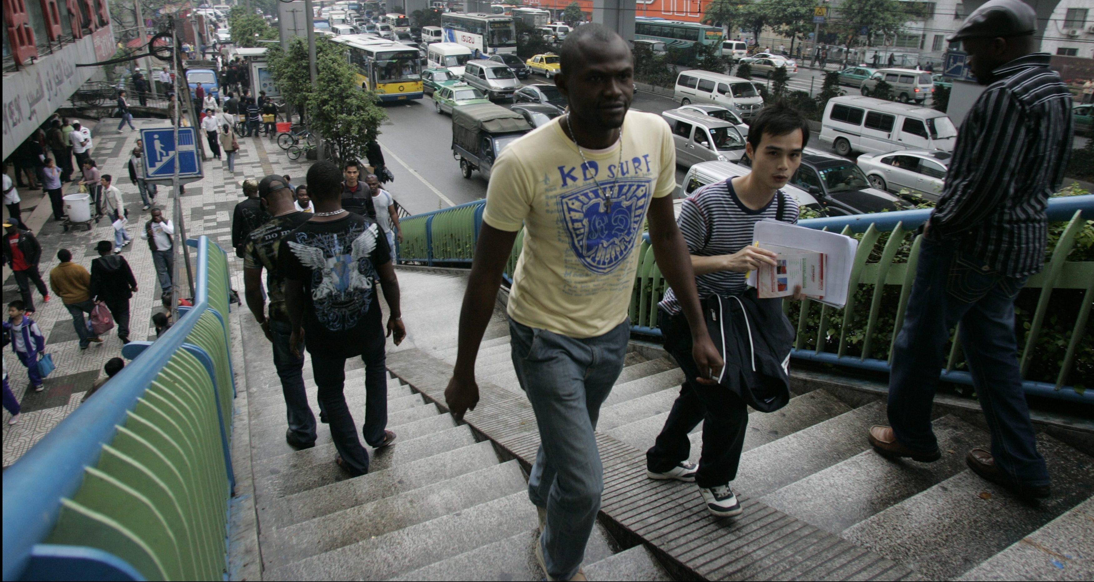 African man Guangzhou China