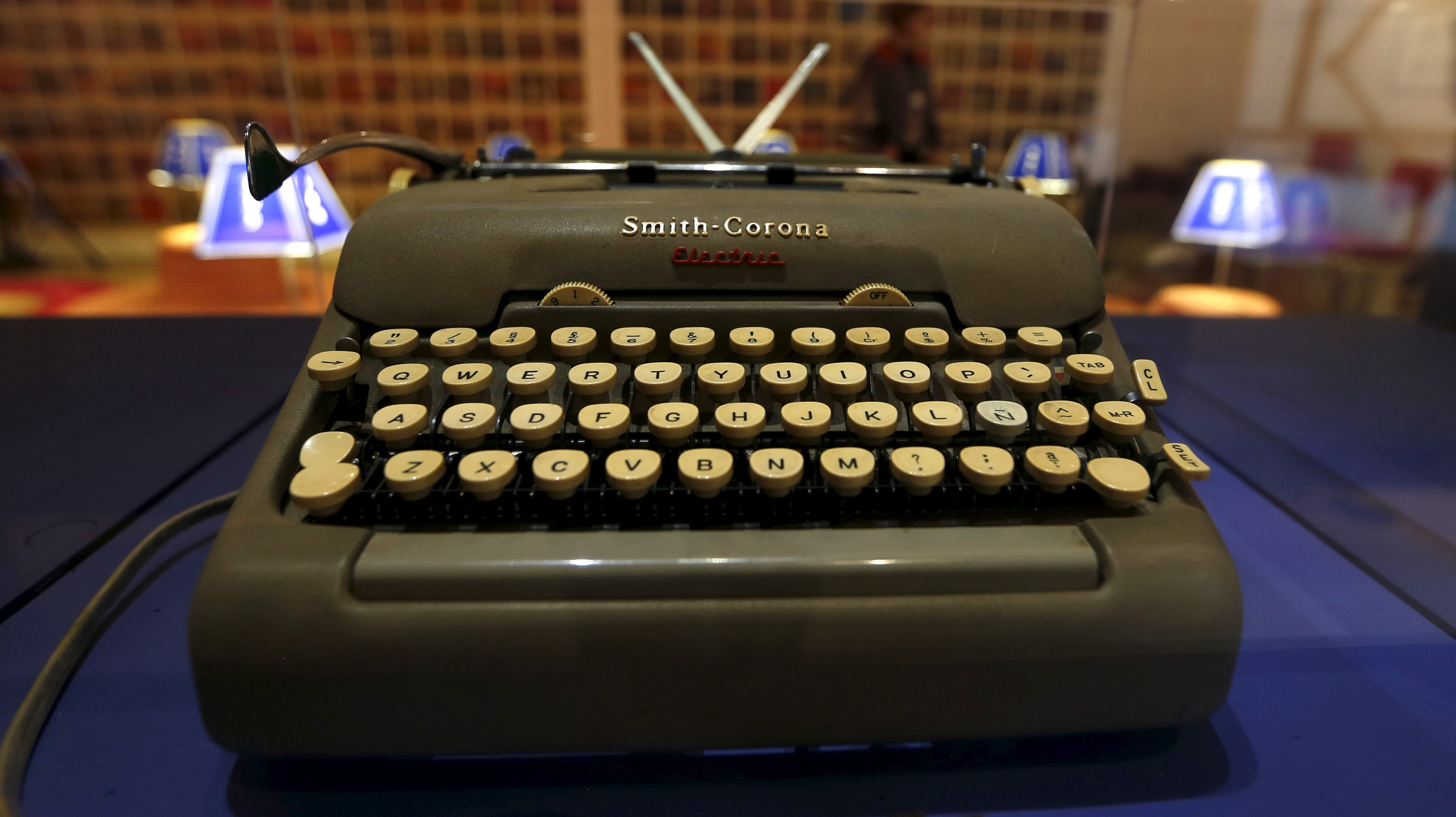 A Smith Corona typewriter