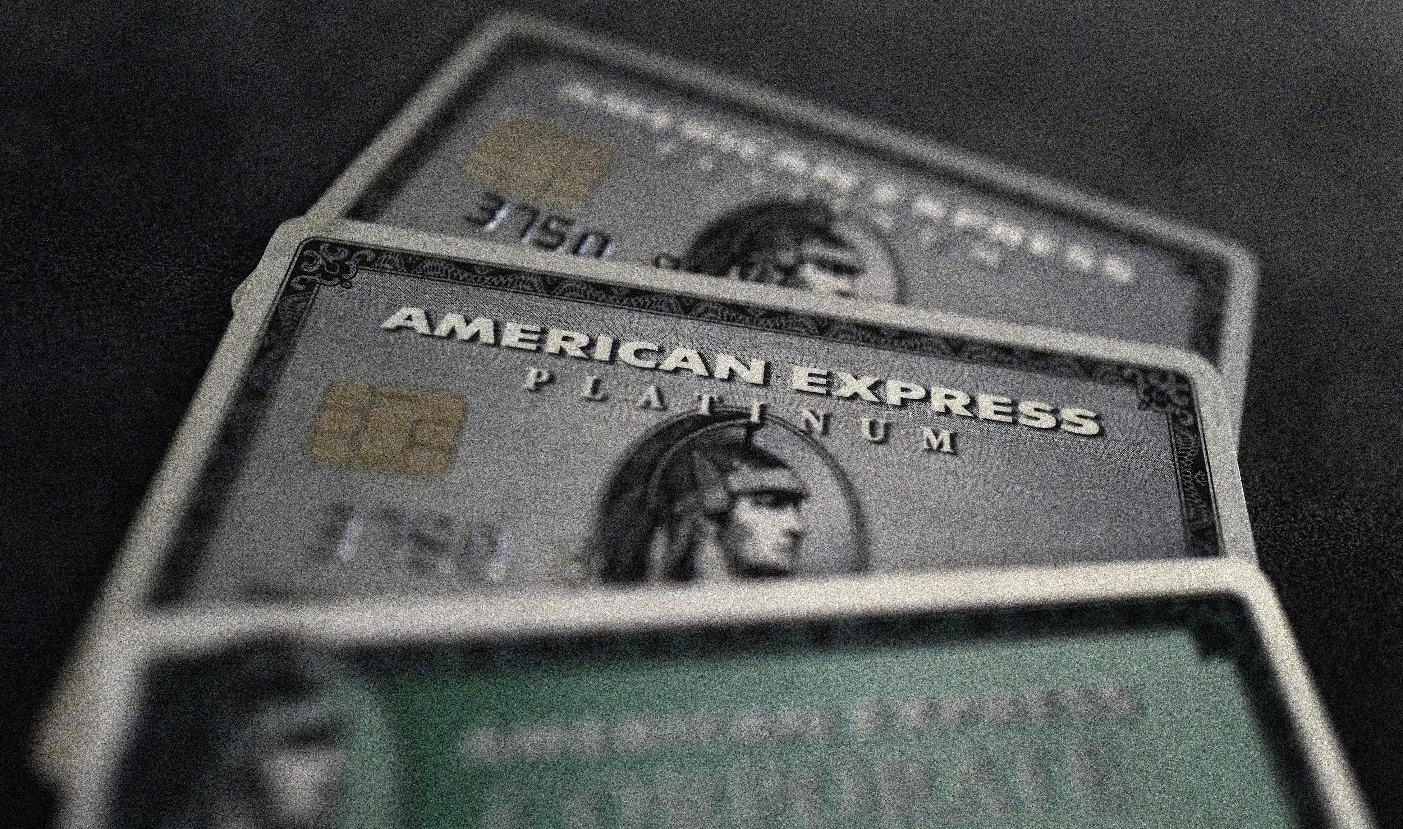 The American Express (AXP) Platinum Card is stainless steel and ...