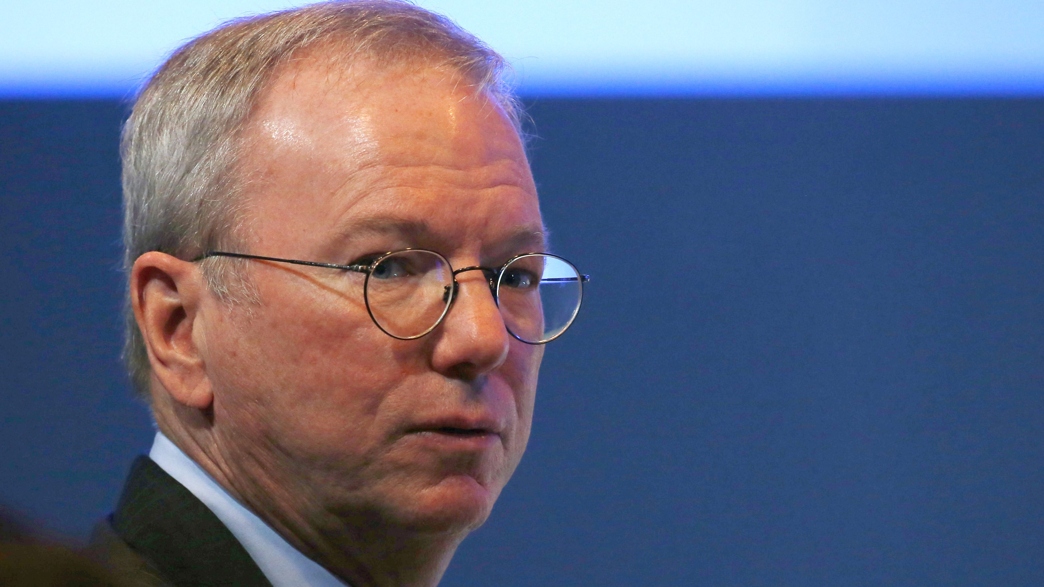 Eric Schmidt, former CEO of Google attends the World Economic Forum (WEF) annual meeting in Davos, Switzerland January 19, 2017.  REUTERS/Ruben Sprich - RTSW9JV