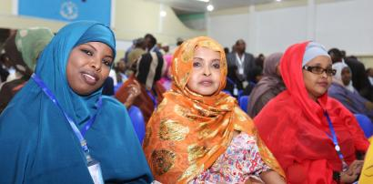 Members of Somalia's federal parliament attend the swearing-in ceremony at the School Policio police training camp in the capital Mogadishu, December 27, 2016.