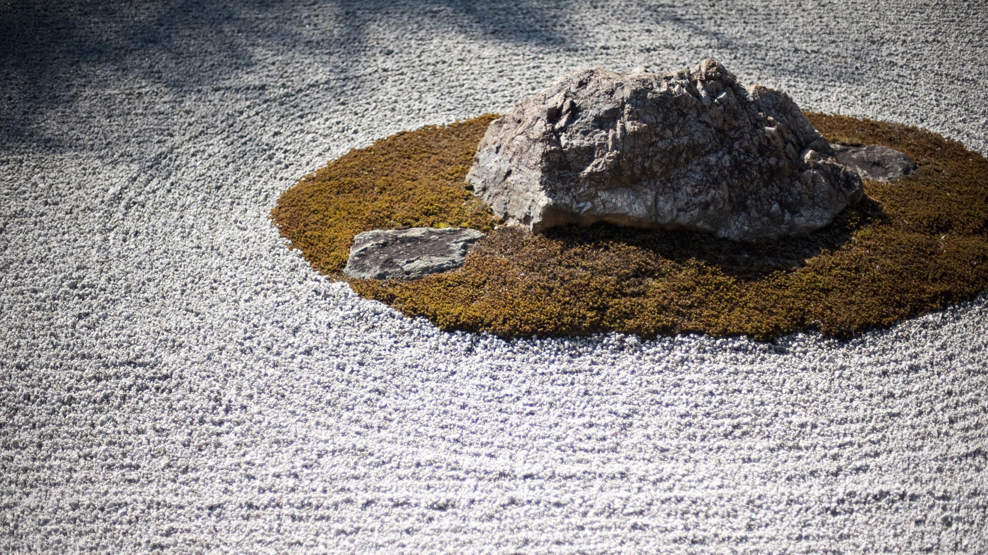 Zen rock garden.